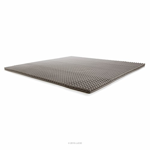 LUCID 2 Inch Bamboo Charcoal Ultra Ventilated Memory Foam