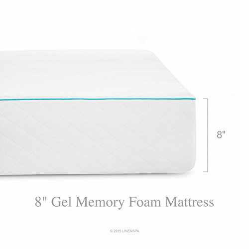 LINENSPA 8 Inch Gel Memory Foam Mattress – Dual Layered