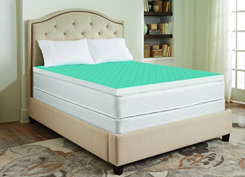 Sharper Image 3 Quot Cool Gel Memory Foam Mattress Topper